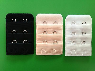 Bra Extenders *CHOOSE a CLIP ON bra extender with 2 hooks BLACK / NUDE / WHITE