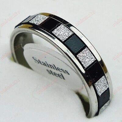 10PCS Wholesale Jewelry Lots Unisex Stainless steel Frosted Rings Freeshipping
