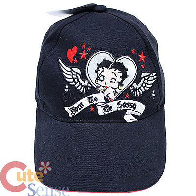 Betty Boop Baseball Cap Adjustable  Born To be Sassy Hat -Kids to Teen