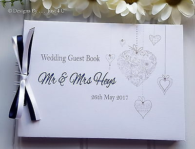 Personalised Heart Wedding/ Engagement/ Anniversary* Guest Book* Scrapbook Album