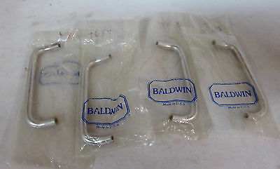 "Baldwin 4"" Drawer/Cabinet Pull (4) SATIN NICKEL MAY BE MISSING PARTS NEW!!"