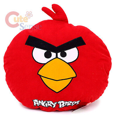 """Angry Birds Red Bird Plush Doll Pillow/ Cushion - 17"""" Large Rovio Licensed"""