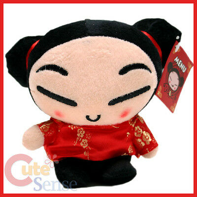 "Pucca Plush Doll Figure  6"" Window Hanging Attachable Stuffed Toy"