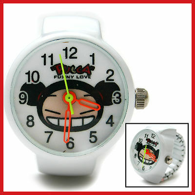Pucca Cute Stainless Ring Finger Watch :White *RARE*