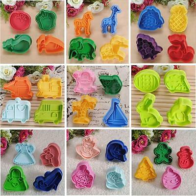 Mixed Biscuit Cookie Fondant Cake Sugarcraft Decorating Plunger Cutter Mould