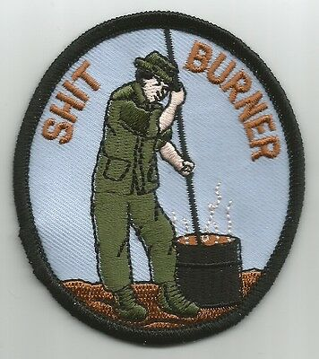 US ARMY - SH!T BURNER - MILITARY PATCH morale humor navy