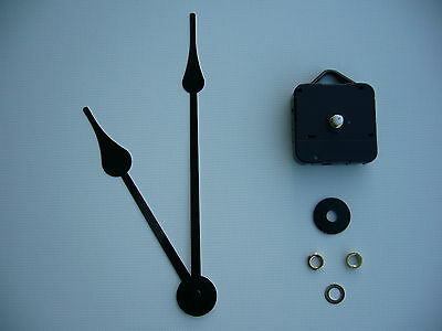High Torque Clock Mechanism Short Spindle 8 Inch French Spade Black Hands