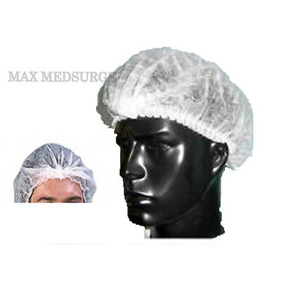 10x Disposable MOB CAP, Medical Grade, Hair Head Cover Net, Food, Fake Tan Salon