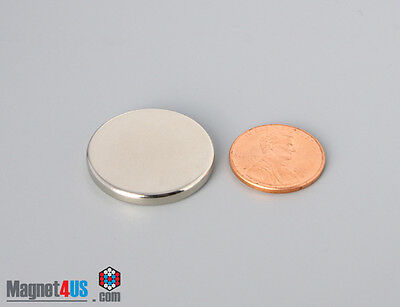 """10 pcs Super Strong Neodymium Rare earth Magnet Disc for sale 1"""" dia x 1/8""""thick"""