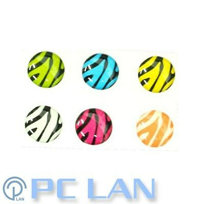 6 PCS Zebra Home Button Sticker for iPhone 3G/3GS/4/4S