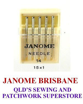 Janome REGULAR SHARPS Needles Size 14 For Standard Cottons  Pkt Of 5