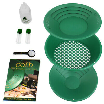 Garrett Prospecting Mining Panning Gravity Trap Gold Pan Kit 1651310
