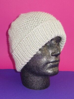 Easy Printed Instructions-Chunky Moss Stitch Beanie Knitting Pattern
