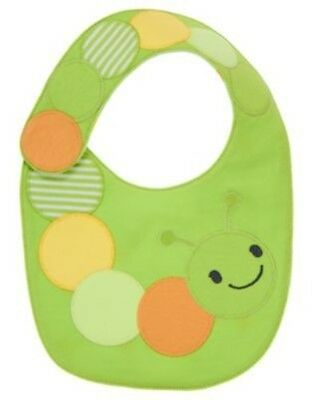 Gymboree Brand New Baby Light Green Caterpillar Reversible Unisex Bib Nwt