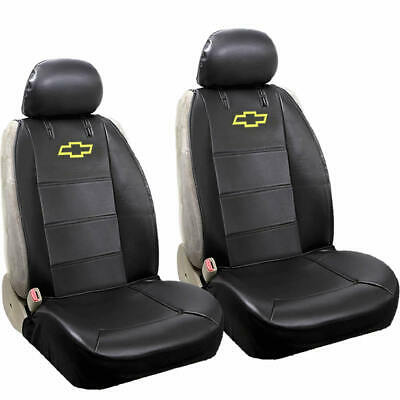 Chevy Elite Original Black Synthetic Leather Sideless Seat Covers Airbag Ready