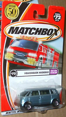 2001 MATCHBOX #72-75 VW MICROBUS KIDS' CARS OF THE YEAR MIP