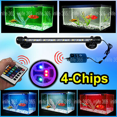 Aquarium Fish Tank White Blue Color Change 5050SMD LED Light Bar Lighting Light