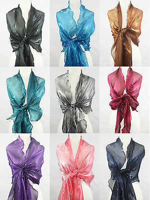 Long Wave Party Shawl Wrap Scarf Wedding 14 Solid Color