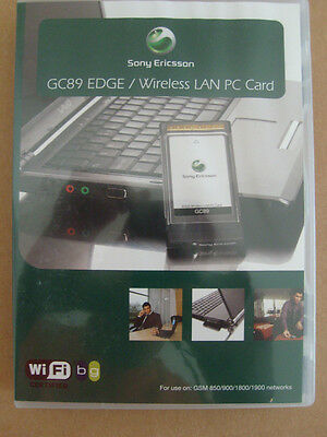 UNLOCKED Sony Ericsson GC89 EDGE WI-FI 3G Cellular PC Card Bus PCMCIA NIP
