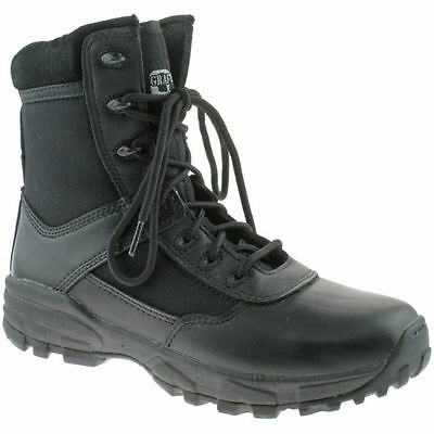 Grafters Boot M489A Black Leather Stealth Lightweight Tactical Combat Safety