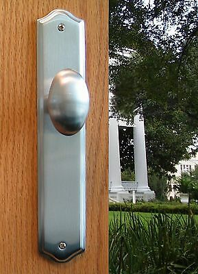 Privacy Door Egg Knobs Privacy Latch Door Hardware Tara in Antique Nickel Finish
