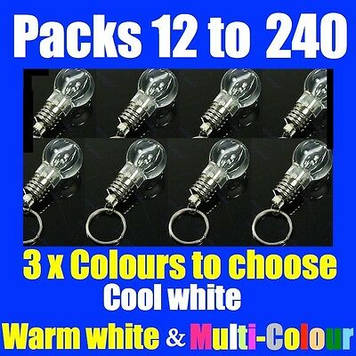 12 to 120 Pcs of Battery Operated LED Bulb Keyring light Paper Lanterns Wedding