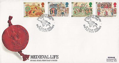 1986 MEDIEVAL LIFE FDC DOMESDAY SURVEY BATTLE EAST SUSSEX SHS