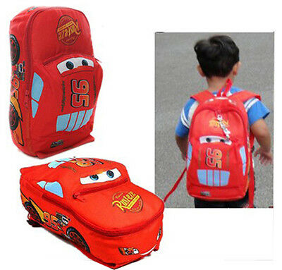 New Children Pixar Cars McQueen Kids Boy's Backpack School Bag S M L 1-4Y Gift