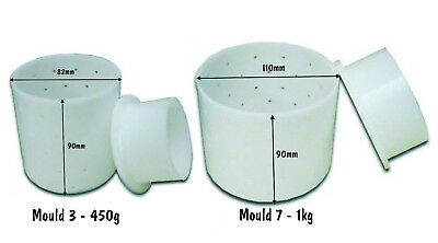 Cheese Making Mould With Base & Follower - 12 Oz Or 1 Kg Cheese