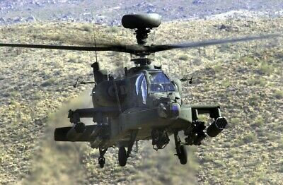 US Army (USA) AH-64D Apache Longbow helicopter 8X12 PHOTOGRAPH