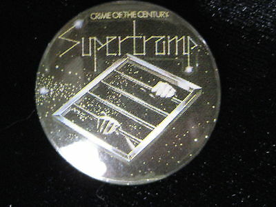 Supertramp-Crime of the Century-Small-Button-80's Vintage-Rare