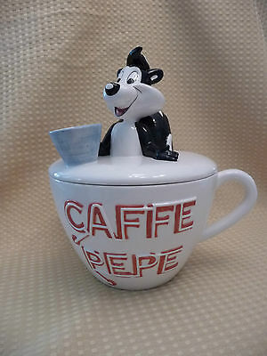 WARNER BROS. CAFFE CUP PEPE LE PEW #A2565 Cookie Jar