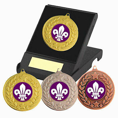 Scouts Medal in Presentation Box, Free Engraving, Scouts Trophies, Awards Medals