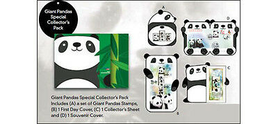 Singapore 2012 MNH FDC Giant Pandas Special Collector's Pack Set Sheet Cover