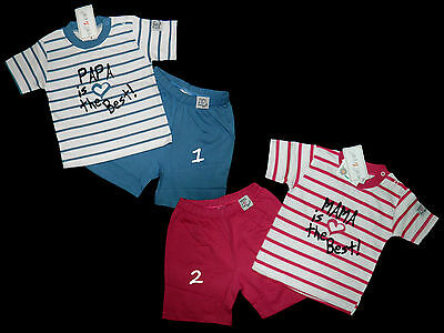 Papa Mama is the best Shorty Schlafanzug Pyjama Set Ebi & Ebi 68 74 80 86 NEU