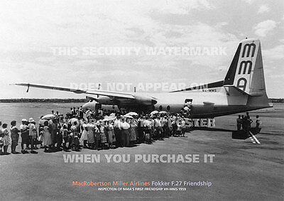 Transportation Ansett Airlines Of Australia Fokker F.27 A3 Poster Print Picture Photo Image