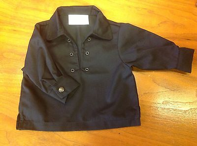 NEW kilt Ghillie jacobean shirt black with lace baby 0-6, 6-12, 12-24 months