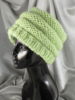 PRINTED INSTRUCTIONS-SUPERFAST GARTER STITCH  BEANIE HAT  KNITTING PATTERN