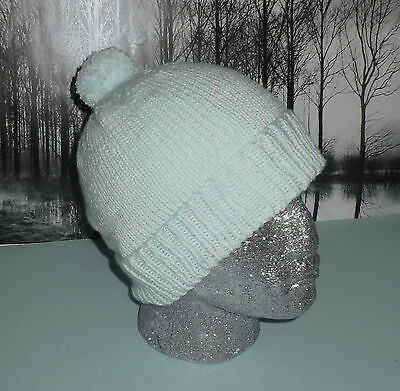 Printed Knitting Instructions-Simple Bobble Beanie  Pom Pom Hat Knitting Pattern