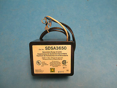 Square D SDSA3650, Secondary Surge Arrester 650V Used