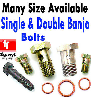 Metric BSP Banjo Bolt Brake Line Fitting Fuel Hose Hydraulic Bolts Double Banjo
