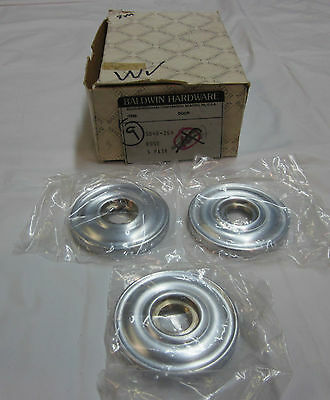 Baldwin 5048-264 Rose 3/box SATIN CHROME NEW in box!!