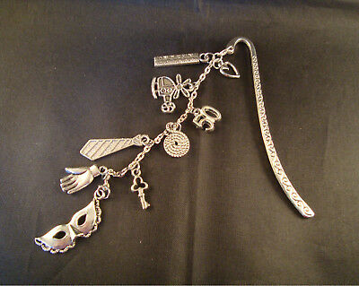 Fifty Shades Inspired 50 Shades 9 Charms Bookmark - GIFT By Elizabeth SRAJD
