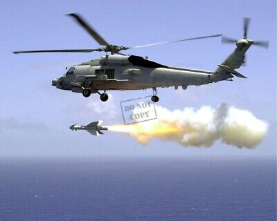 """US Navy (USN) SH-60B """"Seahawk"""" LAMPS III helicopter 8X12 Photograph"""
