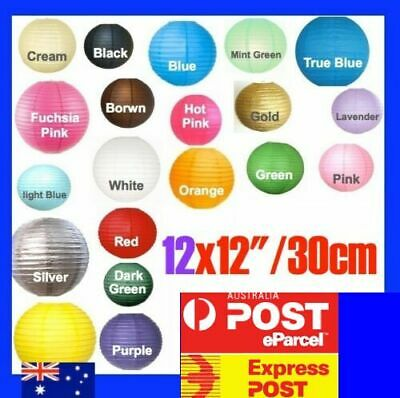 "BULK 12x 12""/30cm Paper Lanterns Party Chinese Wedding Decoration FREE POSTAGE"