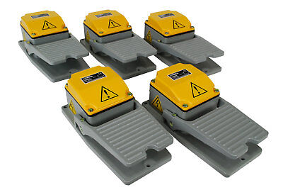5 pcs TEMCo HD Cast Aluminum Foot Switch 15A SPDT Electric Pedal Momentary LOT