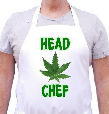 Cannabis Aprons Head Chef Marijuana Apparel | Weed Aprons by CoolAprons