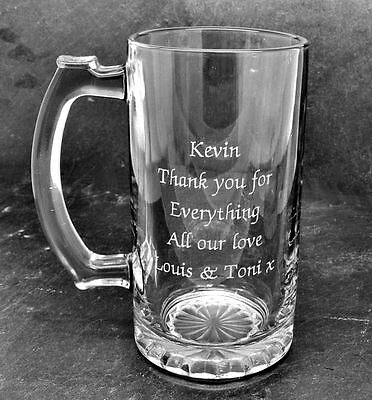 Luxury Gift Box Engraved Free Personalised Engraved Quality Glass Tankard Gift 80th Birthday Design