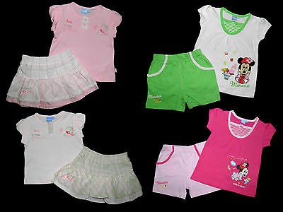 Disney Winnie Minnie Set Rock Short Shirt Kombi 68 74 80 86 92 NEU rosa pink