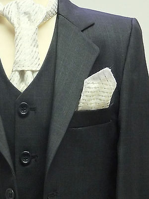 Page Boys Suit In Charcoal Black  Italian Design Dinner Wedding Party 1 To 16